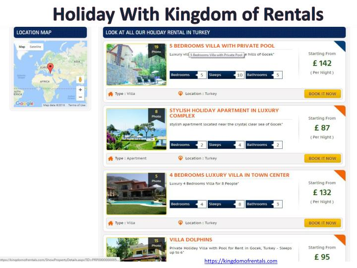 Holiday With Kingdom of Rentals