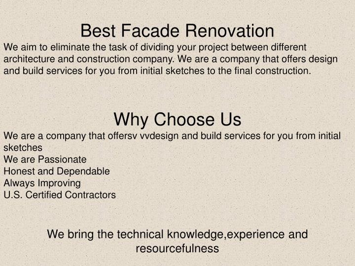 Best Facade Renovation