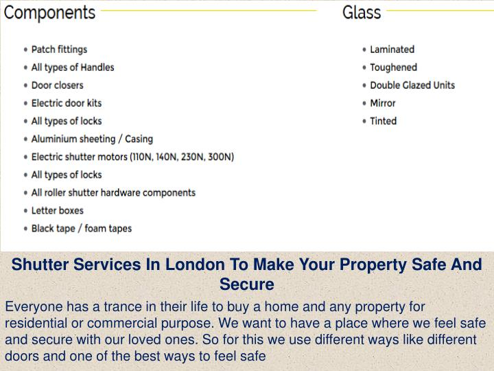 Shutter Services In London To Make Your Property Safe And Secure