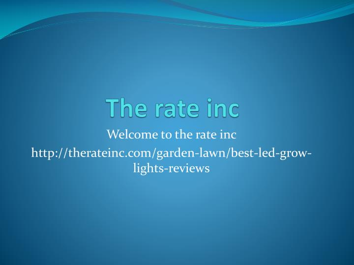 The rate inc