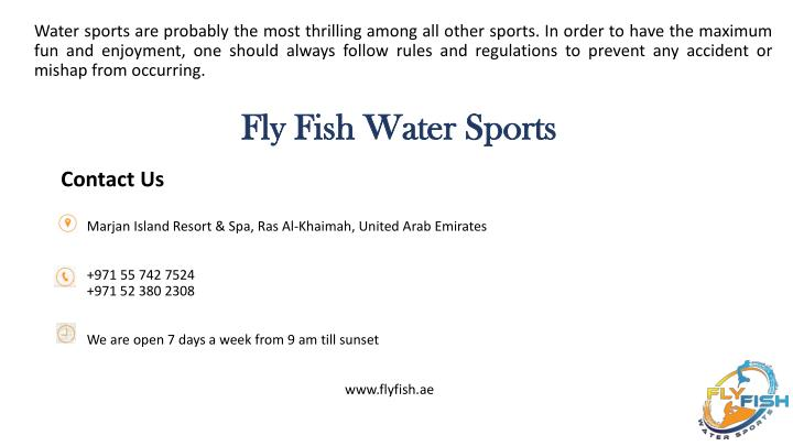 Fly Fish Water Sports