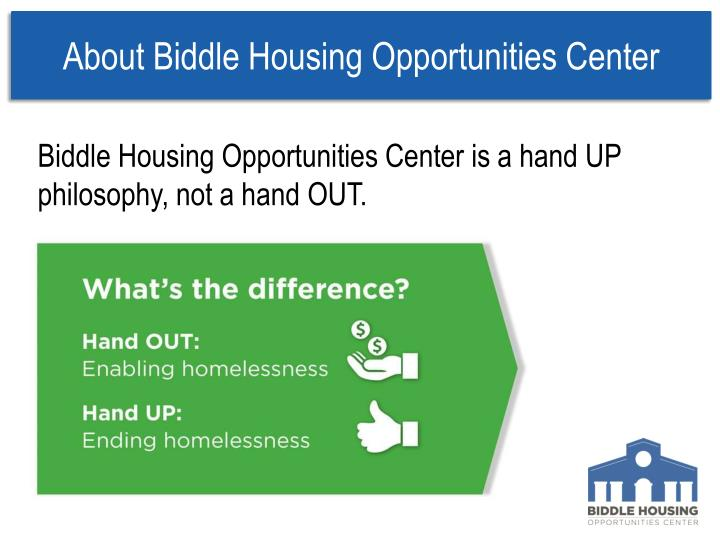 About Biddle Housing Opportunities Center