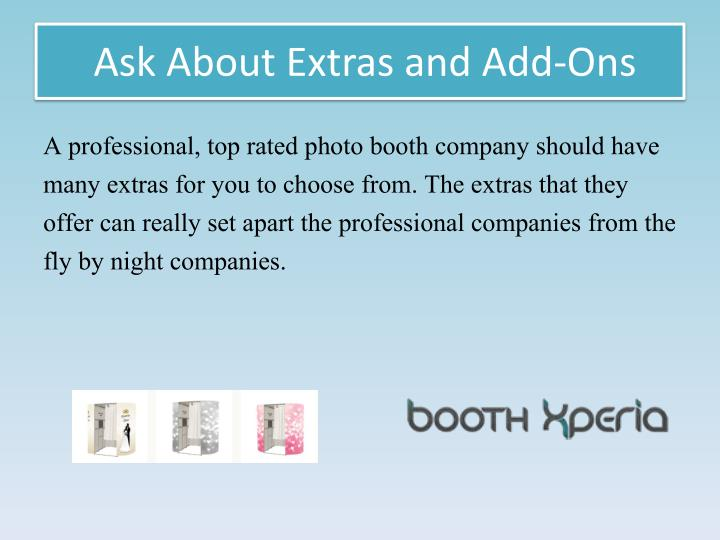 Ask About Extras and