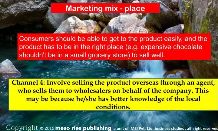 Marketing mix - place