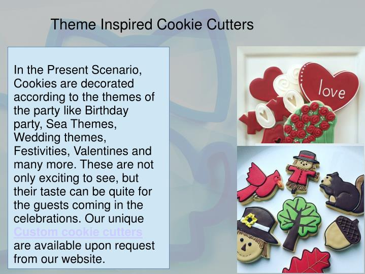 Theme Inspired Cookie Cutters