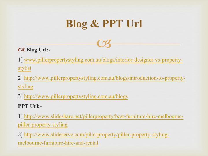 Blog & PPT Url