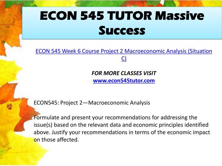 econ 545 project 2 macroeconomic analysis