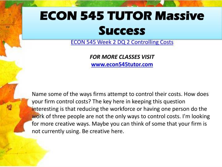 econ tutoring