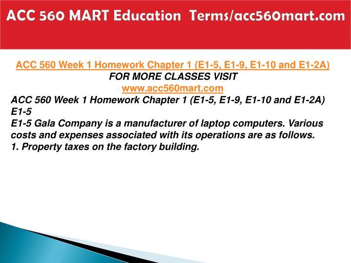 Acc 560 mart education terms acc560mart com1