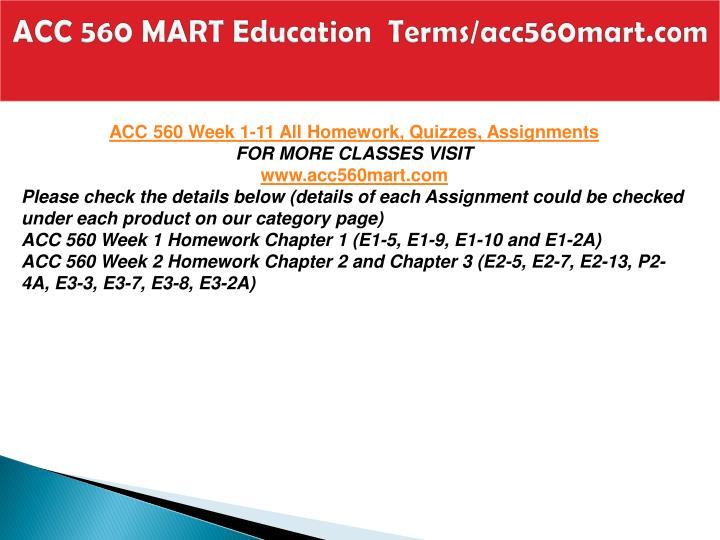 Acc 560 mart education terms acc560mart com2