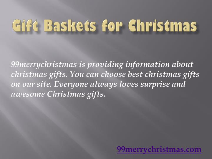 Gift baskets for c hristmas