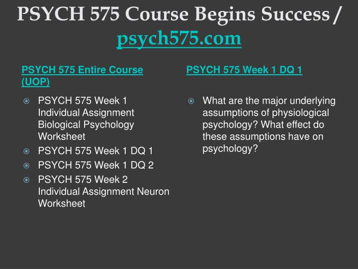 Psych 575 course begins success psych575 com1