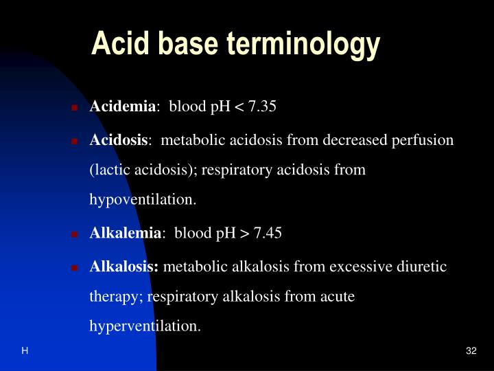 Acid base terminology