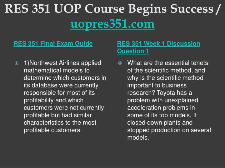 Res 351 uop course begins success uopres351 com2