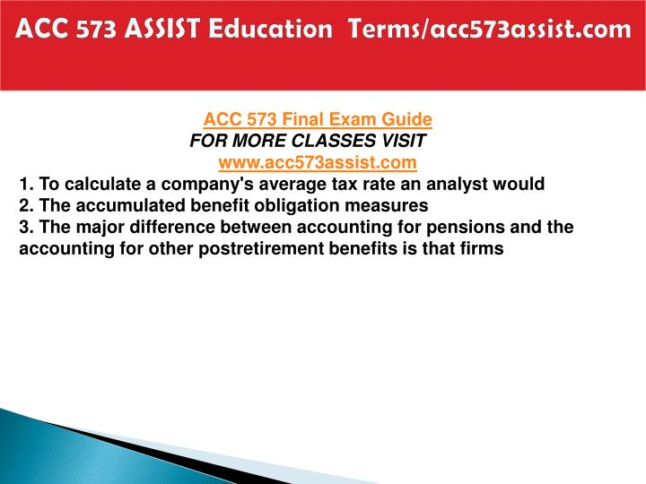 Acc 573 assist education terms acc573assist com1