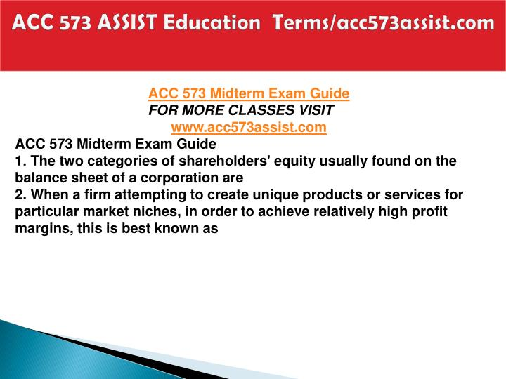 Acc 573 assist education terms acc573assist com2