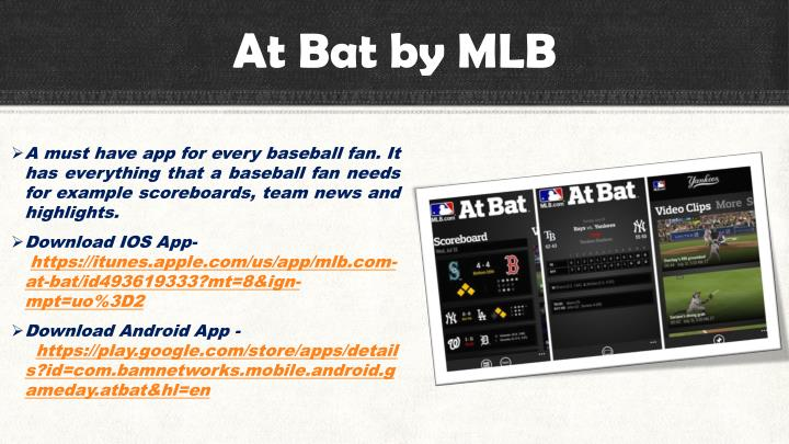 At Bat by MLB