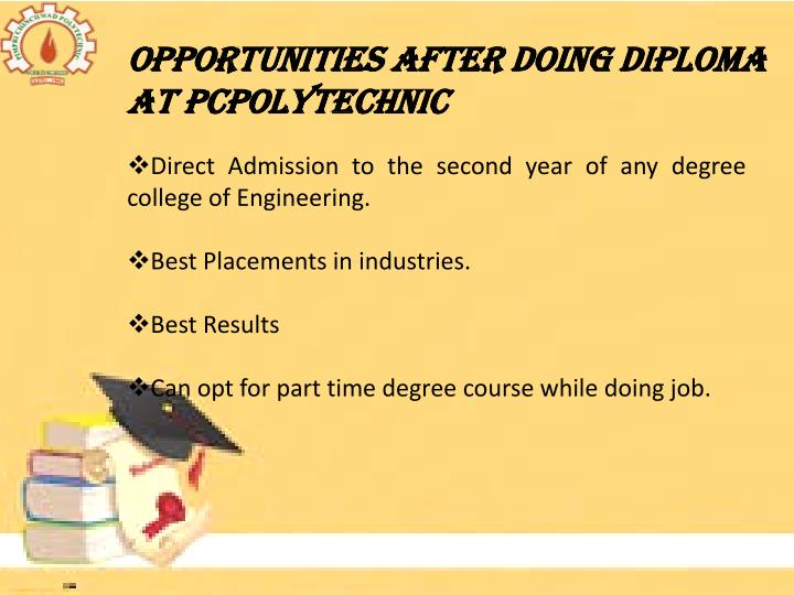 Opportunities after Doing Diploma at PCPolytechnic