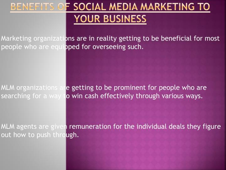 Benefits of social media marketing to your business