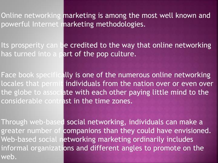Online networking marketing is among the most well known and powerful Internet marketing methodologies
