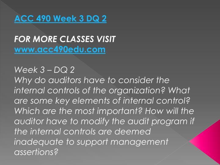ACC 490 Week 3 DQ 2