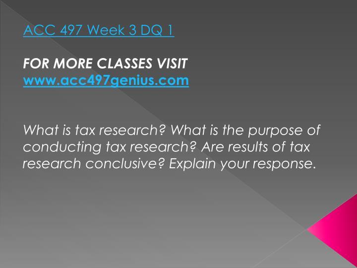 ACC 497 Week 3 DQ 1
