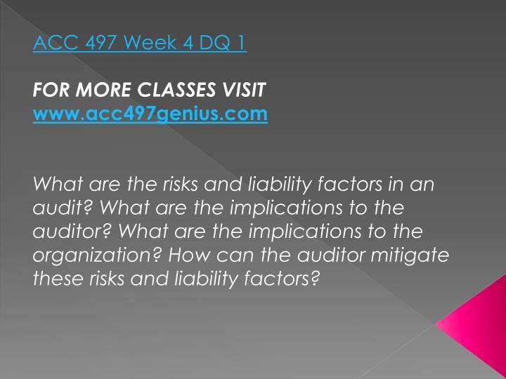 ACC 497 Week 4 DQ 1
