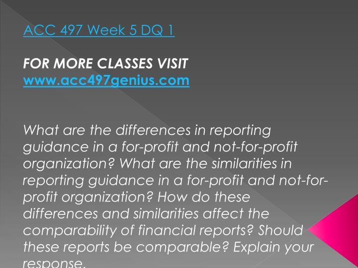 ACC 497 Week 5 DQ 1