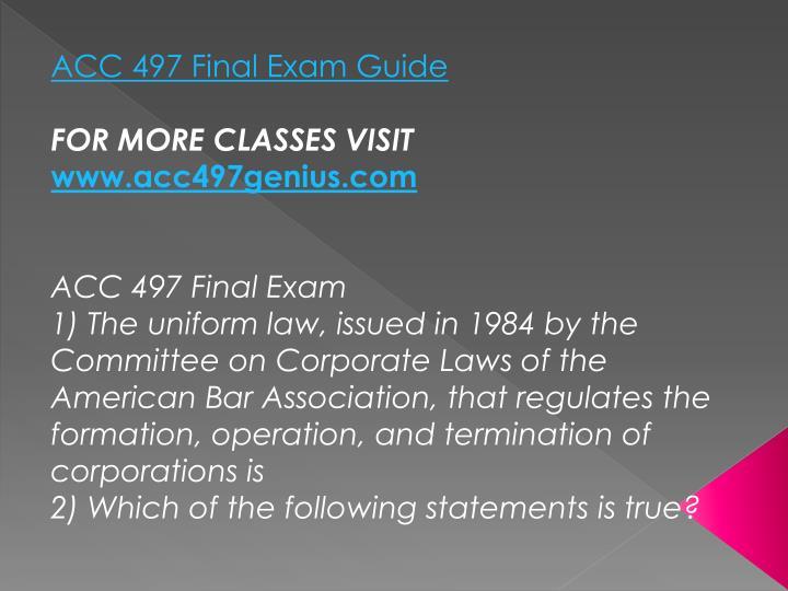 ACC 497 Final Exam Guide