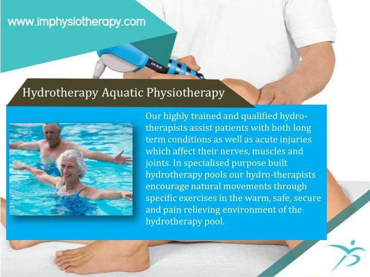 Hydrotherapy Aquatic Physiotherapy