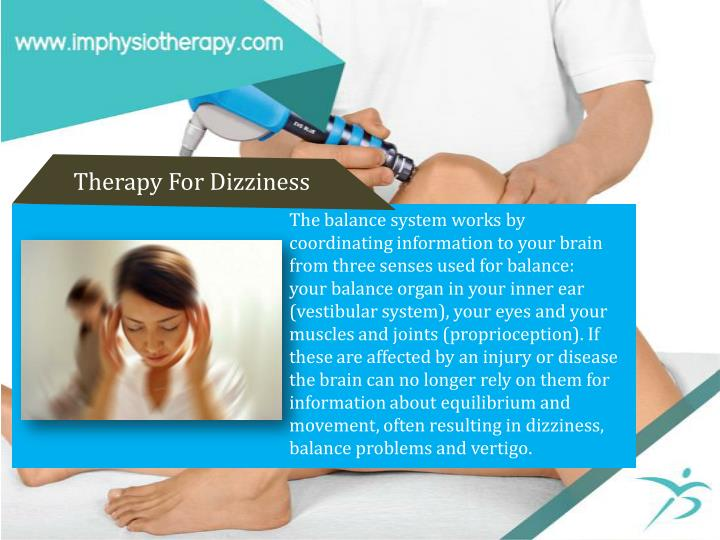 Therapy For Dizziness