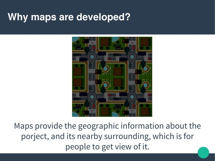 Why maps are developed