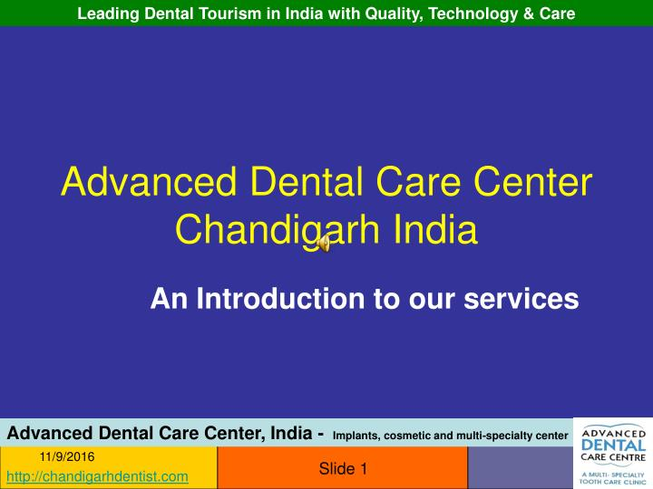 advanced dental care center chandigarh india