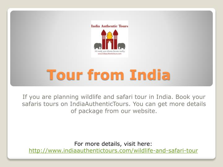Tour from india