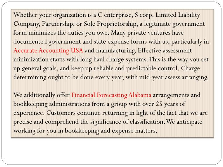 Whether your organization is a C enterprise, S