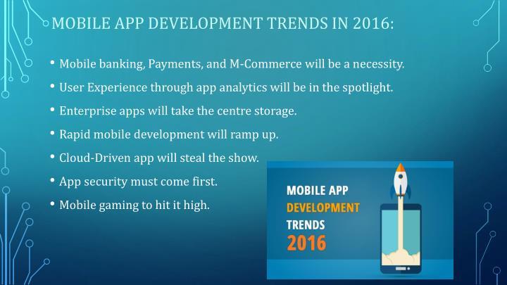 Mobile app development trends in 2016: