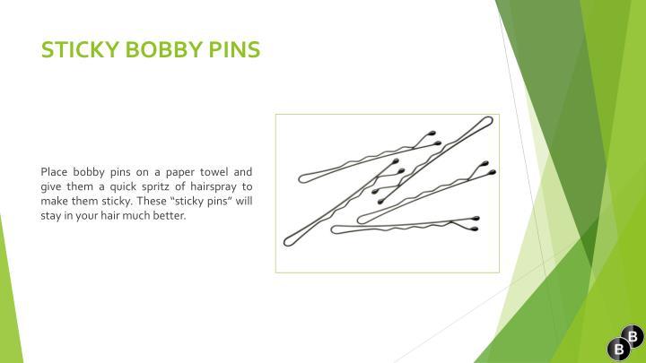 STICKY BOBBY PINS