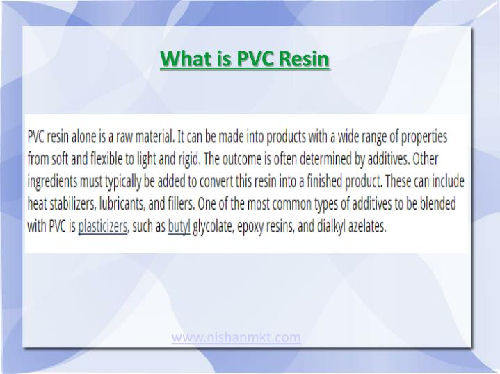 What is pvc resin