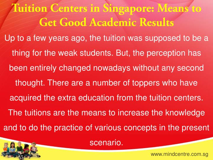 Tuition Centers in Singapore: Means to Get Good Academic Results