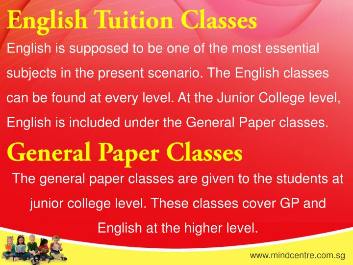 English Tuition Classes