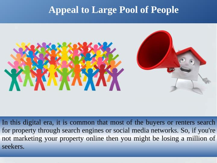 Appeal to Large Pool of People