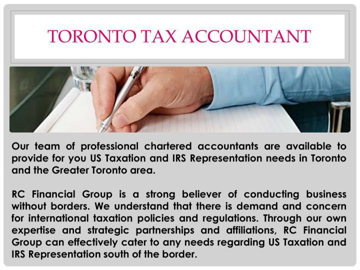 Toronto tax accountant