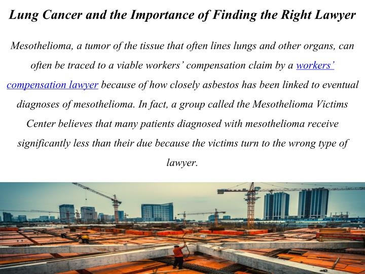 Lung Cancer and the Importance of Finding the Right Lawyer