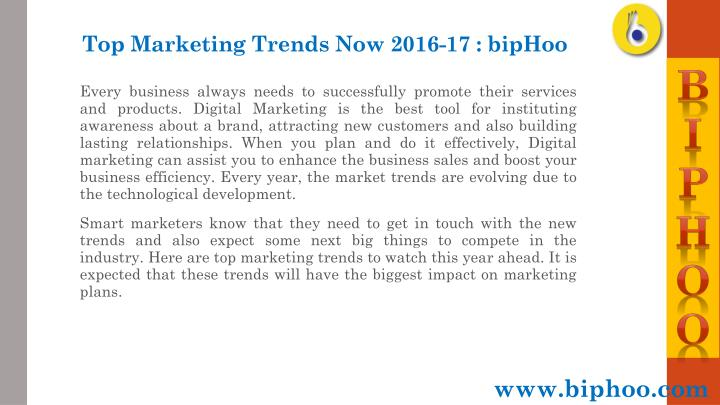 Top marketing trends now 2016 17 biphoo