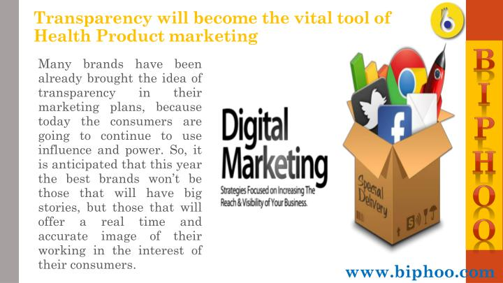 Transparency will become the vital tool of