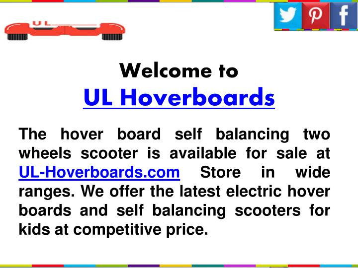 Welcome to ul hoverboards