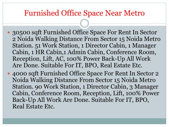 Furnished office space near metro1