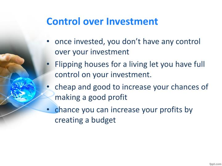 Control over Investment