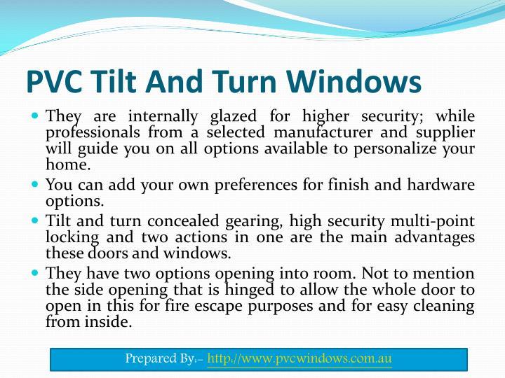 Pvc tilt and turn windows