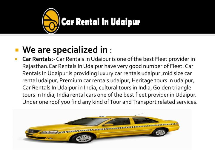 We are specialized in